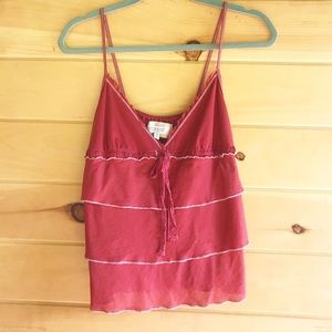 Abercrombie & Fitch tiered rust camisole